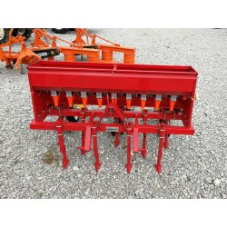 Seeder for row crops and fused surface